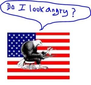 eagle angry